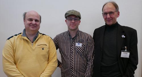 (v.l.n.r.: Walter Schranz, Vertreter der SAZ in Österreich, Marco Teubner, 1. Vorsitzender der SAZ, Christian Beierdorf, Geschäftsführer der SAZ)